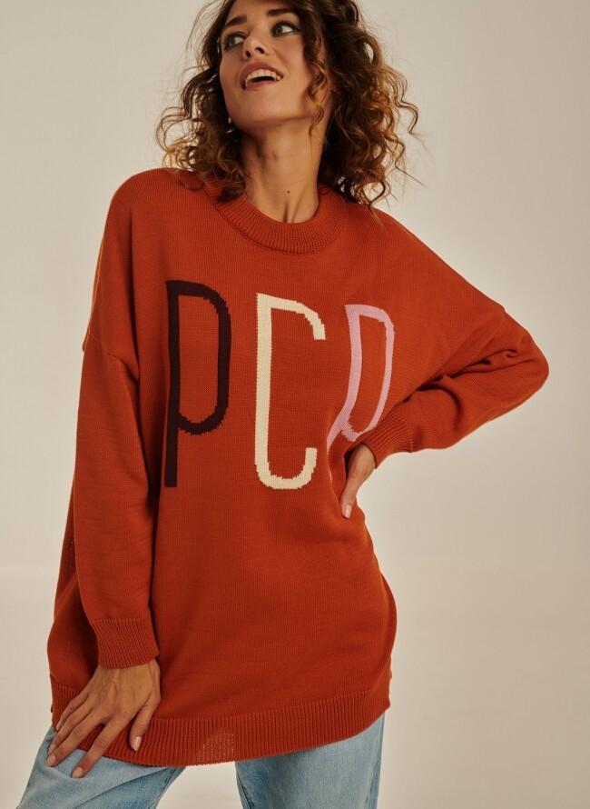 PCP Γυναικείο πλεκτό πορτοκαλί